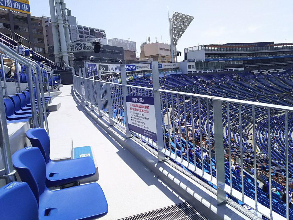 座席に座った状態から1塁側方面の眺め