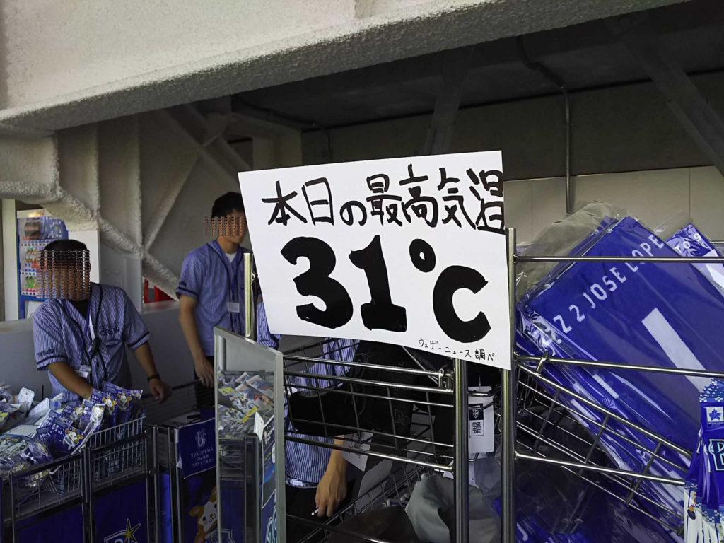 この日の最高気温31℃