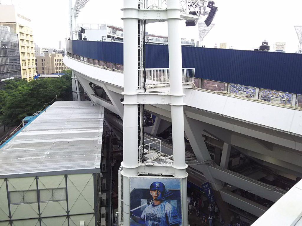ウィング席4階からの眺め