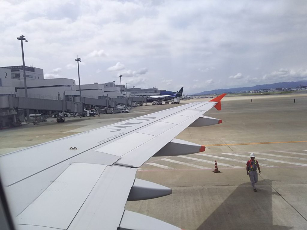 離陸後すぐに寝てしまい気づいたら福岡に着いていました
