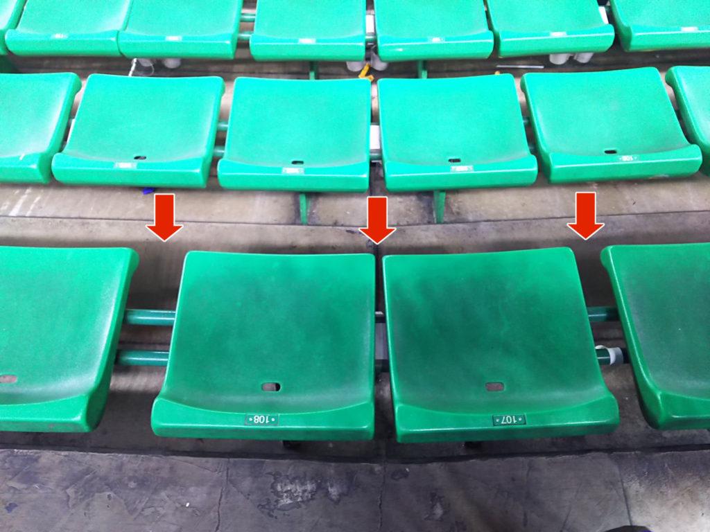 座席の間隔が雑すぎるヤフオクドームの外野座席