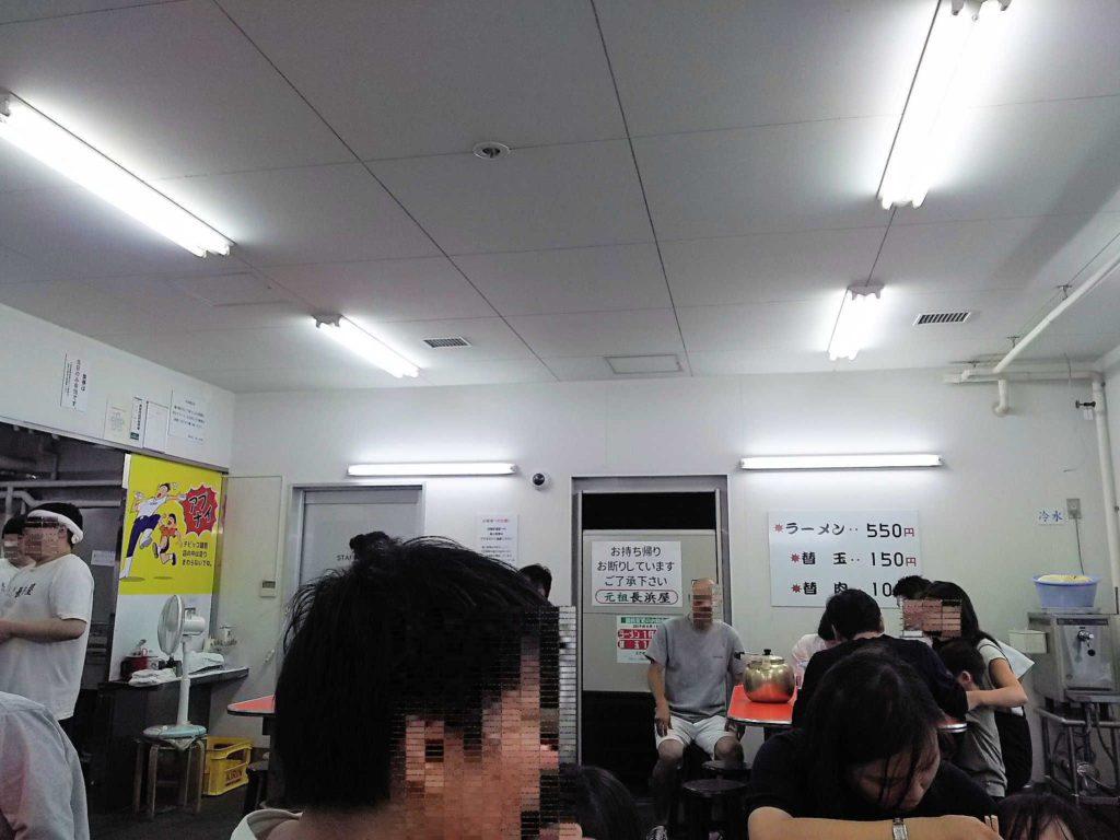 元祖長浜屋の店内の雰囲気