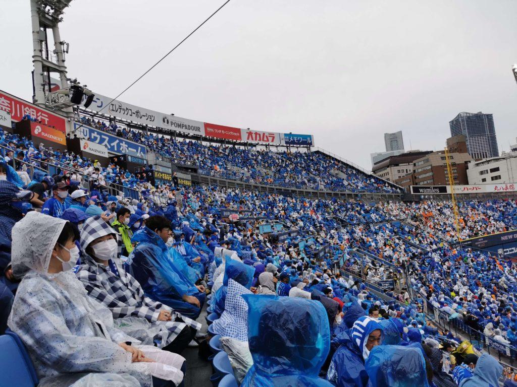 雨が降り出しカッパを着ての観戦となりました