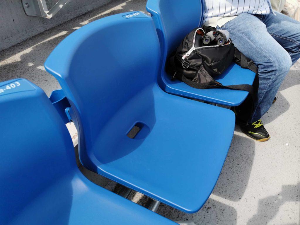 レフトウィング席の形状はライトウィング席と同じ