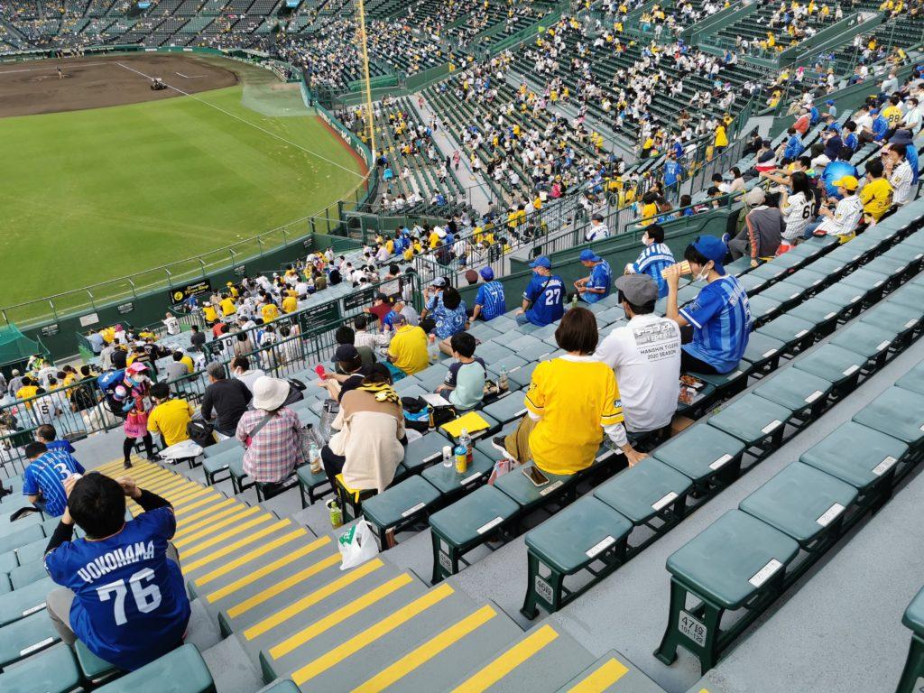 阪神ファンとベイスターズファンが同居する外野席