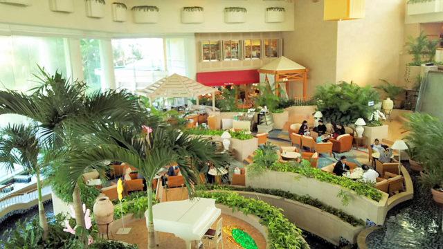 ラグナガーデンホテルのラウンジ
