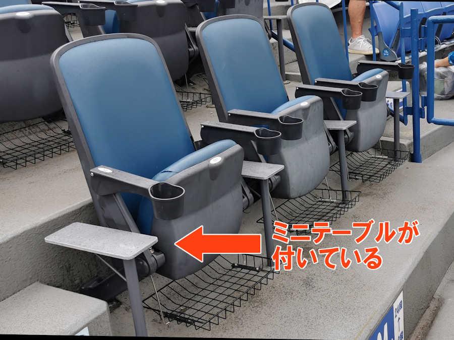 SSトリプルシートにはミニテーブルが付いています